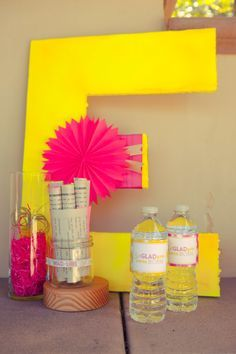 free neon party printables - Google Search