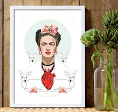 Frida Kahlo (Light) - Art Print - Feminist Print