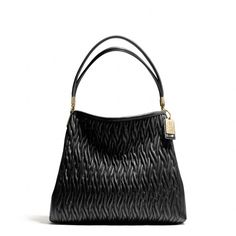 The Madison Small Phoebe Shoulder Bag In Gathered Twist Leather from Coach
