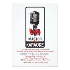Master of Karaoke Birthday Party Invitation