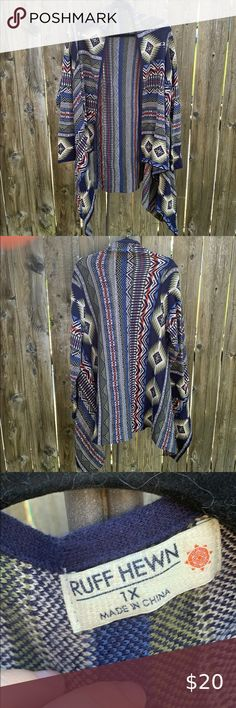 Ruff Hewn southwestern Aztec open cardigan Excellent condition, size 1x , Ruff Hewn Southwestern Aztec print knit open front cardigan sweater. Asymmetrical bottom. Cotton and acrylic blend.No rips or stains. Feel free to ask any questions. Ruff Hewn Sweaters Cardigans Large Living Room Rugs, Ruff Hewn, Plus Fashion, Fashion Tips, Fashion Trends, Open Front Cardigan, Aztec, Sweater Cardigan, Cardigans