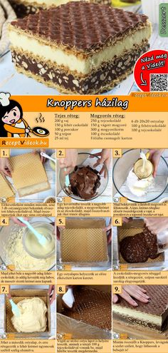 Knoppers házilag recept elkészítése videóval Cake Boss Recipes, Dessert Cake Recipes, No Cook Desserts, Dessert Drinks, Cookie Recipes, Super Torte, Birthday Cakes For Teens, Teen Birthday, Hungarian Desserts