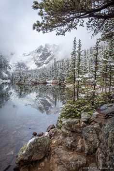 """October Dream"" by Erik Stensland ~ Dream Lake, Rocky Mountain National Park, Colorado"
