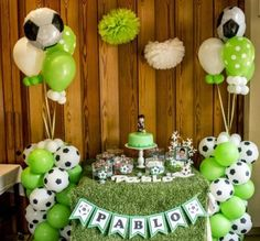 Ideas innovadoras para Fiestas de cumpleaños geniales Soccer Birthday Parties, Football Birthday, Soccer Party, Sports Party, Party Decoration, Balloon Decorations, Birthday Decorations, Craft Party, Soccer Birthday Cakes