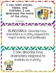 2nd Grade Common Core: Teacher and I Can Statements