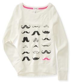 Many Mustaches Sweatshirt from Aeropostale