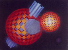 Identidades robadas, Acrílico sobre tela / Acrylic on canvas, 60 x 80 cm / 31,5 x 24 in, Serie Stereo Esferas, 1999, by Carlos Presto