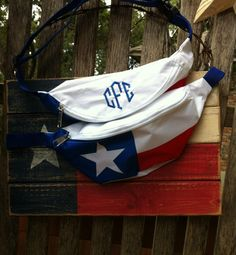 Monogrammed Texas Flag Fanny Pack by ShopEllieBelle on Etsy, $22.00