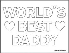 Free Father's Day Coloring Pages for Kids