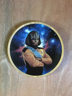 Star Trek Lieutenant Worf 8 1/4 Inch Collector Plate    eBay