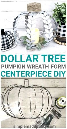 Best Indoor Garden Ideas for 2020 - Modern Dollar Tree Pumpkins, Dollar Tree Fall, Dollar Tree Decor, Dollar Tree Crafts, Pumpkin Wreath, Diy Pumpkin, Pumpkin Tree, Pumpkin Crafts, Easy Fall Crafts