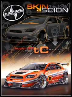 SuperGT SCION tC by dangeruss on DeviantArt