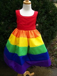 dress girls rainbow Etsy find: party dresses