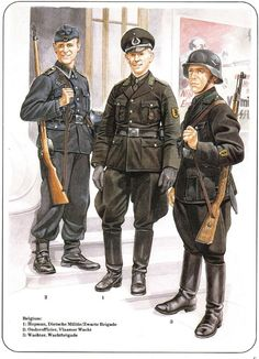 Belgian - German occupation forces in Belgium German Soldiers Ww2, German Army, Military Art, Military History, Luftwaffe, Military Drawings, Germany Ww2, German Uniforms, Army Uniform