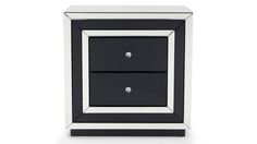 Malibu Contemporary Mirrored 2-drawer Night Stand | Zuri Furniture #ZuriFurniture