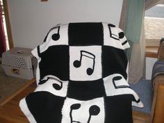 Music Notes crochet afghan