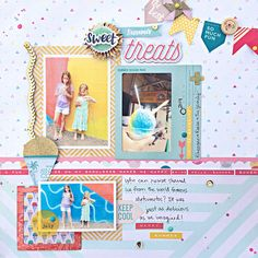 Matsumoto Sweet Treats Scrapbooking layout by Heather Leopard: Crate Paper #scrapbooking #scrapbook #cratepaper #matsumoto #shavedice