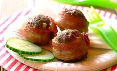 Bacon-Wrapped Cheesy Meatballs recipe | Kids recipes | Whats For Dinner