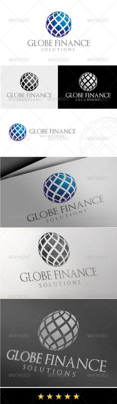 Globe Finance Logo: Abstract Logo Design Template created by JROHCreative. Finance Tracker, Finance Logo, Abstract Logo, Geometric Logo, Logo Design Template, Logo Templates, Globus Logo, Logo Web, Inspiration Logo Design