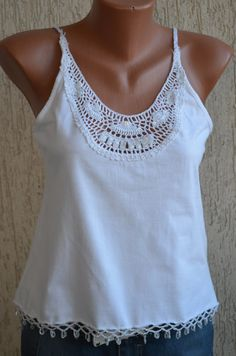 Vintage Beaded Sexy Hand Crochet Top size M by FirstSeason on Etsy, $22.00