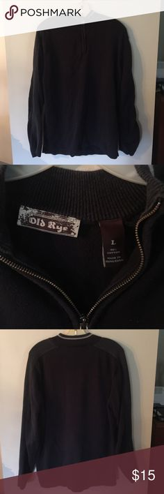 Old Rye 3/4 Zip Sweater EUC - no rips or stains. 100% cotton. Smoke free home. Old Rye Sweaters Zip Up