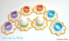Декоративные подставки для пасхальных яиц крючком с описанием. СМ