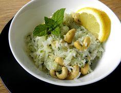 zadanie - gotowanie: Ryż z miętą i orzechami.
