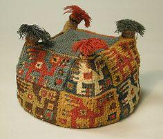 Four-Cornered Hat, Peru, 7th-9th century, camelid hair