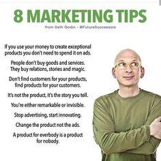 Selfinspired: Marketing Tips by Seth Godin 💯🔥🔥🔥🔥➡Visit for more ⚡ visit our website. Marketing Jobs, Sales And Marketing, Business Marketing, Marketing Quotes, Business Money, Business Tips, Business Quotes, Amway Business, Sales Motivation