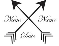 100 Double Arrows Personalized Couple's Name & by SomaArtTattoo