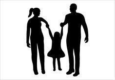 Happy Silhouette | Happy Family Silhouette Graphics