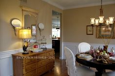 Pat's beautiful dining room