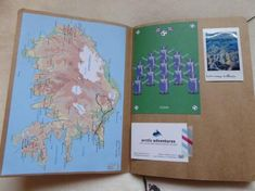 Iceland scrapbook inside Iceland, Trail, Scrapbook, Adventure, Ice Land, Scrapbooking, Adventure Movies, Adventure Books, Guest Books