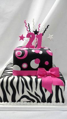 in pertaining to Best Cake Designs - Cake Design Ideas Zebra Birthday Cakes, 21st Birthday Cake For Girls, 13th Birthday, Cupcakes, Cupcake Cakes, Torta Zebra, Best Birthday Cake Designs, Torta Animal Print, Cake Designs Images