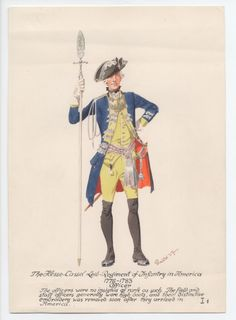 Hesse-Cassel Leib-Regiment of Infantry, Officer, in America 1776-1783 by H.Knotel