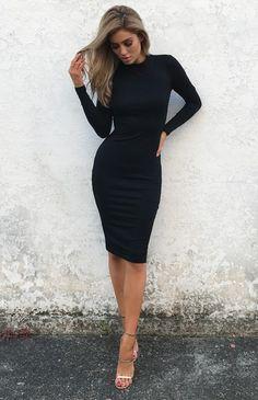 02637d12c374 STORM DRESS - BLACK Style Couture