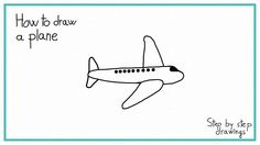 How to draw a plane #stepbystep #learn #howto #plane #flight