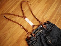 Hollows Leather suspenders