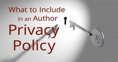 Author Privacy Policy