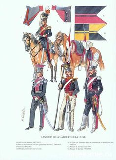 SOLDIERS- Courcelle: Russian Lancers, Guard and Line, by Patrice Courcelle.