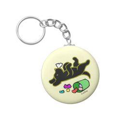 Shop Funny Black Labrador Cartoon Illustration Keychain created by HappyLabradors. Labrador Retriever, Black Labrador, Custom Buttons, White Elephant Gifts, Funny, Illustration, Art For Kids, My Design, Cool Designs