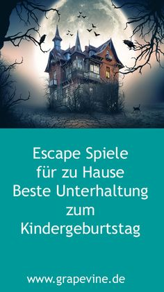 Escape Game: Escape from the ghost villa party game for Halloween. - Escape Game: Escape from the ghost villa party game for Halloween. Halloween Tipps, Halloween Party Games, Kids Party Games, Easy Halloween, Games For Kids, Diy For Kids, Games Design, School Parties, Geocaching