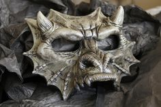Gryphon's Egg latex gargoyle masquerade mask. $35.00, via Etsy.