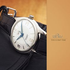 HMT Mechanical Watch - Pilot White Dial Blue Hands | Flickr - Photo Sharing!