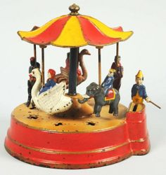 Cast Iron Merry-Go-Round Mechanical Bank.