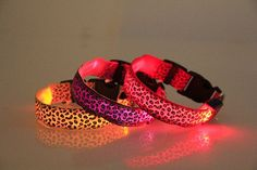 Leopard Print Safety LED Collar