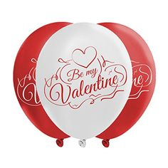 Valentines Day Balloons 2 Colors Of Love Passionate Red Dazzling White Creates Romantic Atmosphere 40 Metallic Latex Balloons With Fun Festive Print Celebrate Hearts Day With Loved One ** Check this awesome product by going to the link at the image. Valentines Flowers, Valentines Day Decorations, Happy Valentines Day, Valentino Valentina, Heart Day, Latex Balloons, Metallic Colors, 2 Colours, Festive