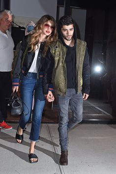 """Gigi Hadid and Zayn Malik leaving Gigi's Apartment in NYC 7.14.16 """