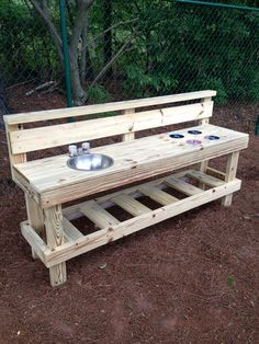 Outdoor play kitchen area