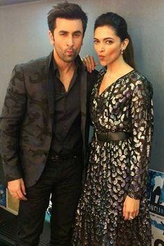 Ranbir Kapoor and Deepika Padukone during `Tamasha' promotions on `Aaj Ki Raat…